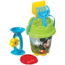 Mickey Mouse Yuvarlak Aksesuarlı Kale Kova Set